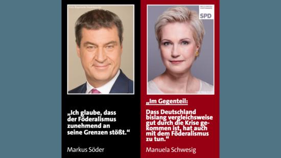 Föderalismus Söder Schwesig SPD CSU Corona