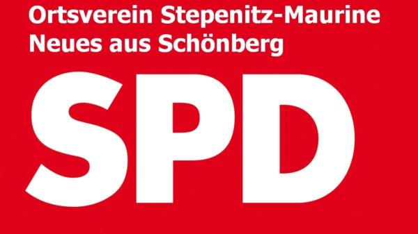 SPD Logo Ortsverein Stepenitz-Maurine, Neues aus Schönberg