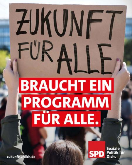 Zukunft für alle braucht ein Programm für alle